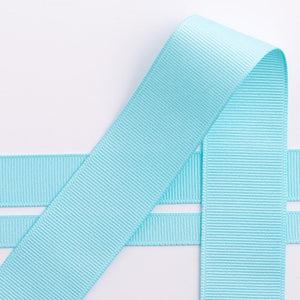 Duck Egg Blue Grosgrain Ribbon - 10mm, 16mm, 25mm, 38mm - Button Blue Crafts