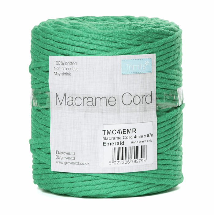 Macrame Cord - Emerald - Full Reel - 100% Natural Cotton UK Made