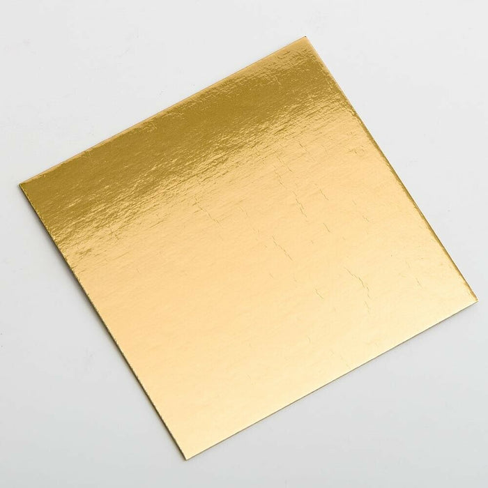 Gold 7cm Square Flat Liner For Transparent Favour Boxes - Wedding Favours, Homemade Gifts and Treat Display