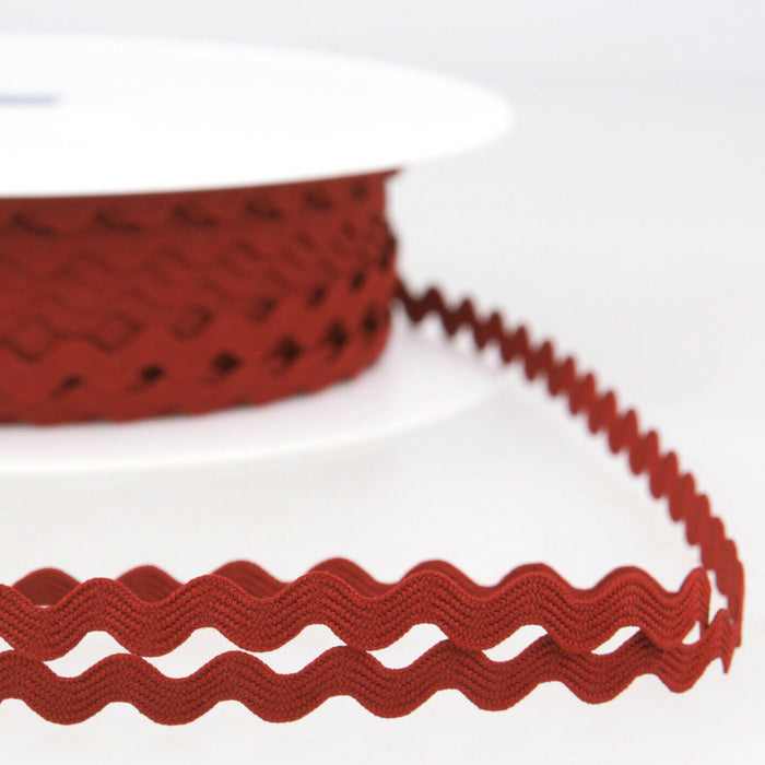Hermes Red - Stephanoise 8mm Ric Rac Ribbon - Braid Trim - Cut Lengths - Craft Essentials