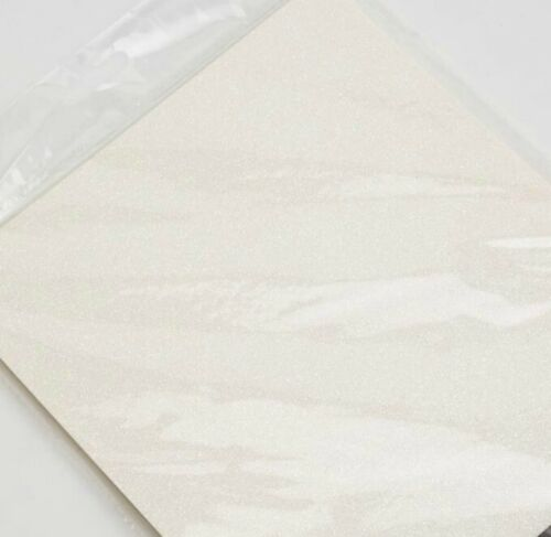 Ice White A4 Low Shed Glitter Cardstock Premium Quality - 250gsm