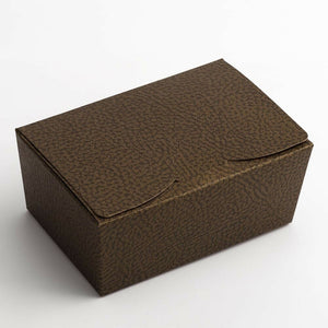 Large 125x80x55mm Truffle Ballotin Boxes - Brown - Wedding Favour Handmade Sweets Christmas Gift