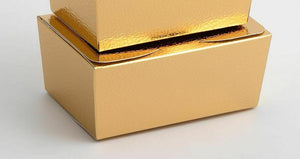 Large 125x80x55mm Truffle Ballotin Boxes - Gold Pelle - Wedding Favour Handmade Sweets Christmas Gift