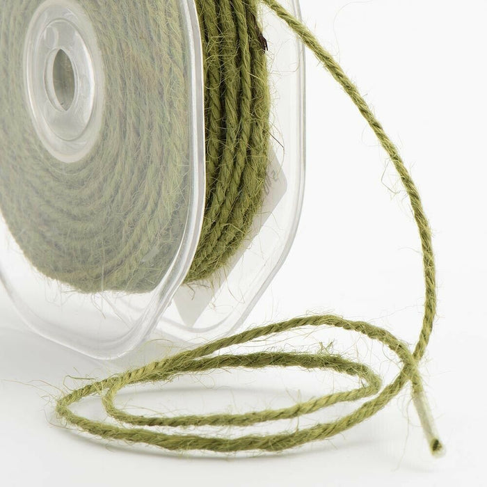 Sage Green - 2mm Hessian String Burlap Twine - Rustic Shabby Chic - Vintage Ribbon