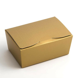Medium 115x75x50mm Truffle Ballotin Boxes - Gold - Wedding Favour Handmade Sweets Christmas Gift