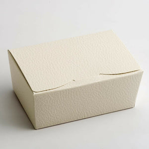 Medium 115x75x50mm Truffle Ballotin Boxes - Antique White - Wedding Favour Handmade Sweets Christmas Gift