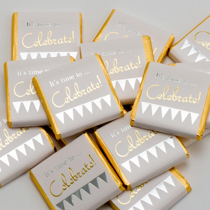 It's Time To Celebrate - Milk Chocolate Neapolitans - Wedding / Party Favours