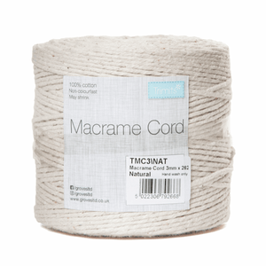 Macrame Cord - Natural - Full Reel - 100% Natural Cotton UK Made