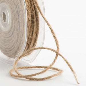 Natural - 2mm Hessian String Burlap Twine - Rustic Shabby Chic - Vintage Ribbon
