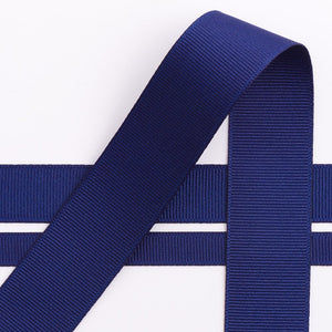 Navy Blue Grosgrain Ribbon - 10mm, 16mm, 25mm, 38mm - Button Blue Crafts