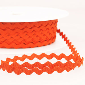 Orange - Stephanoise 8mm Ric Rac Ribbon - Braid Trim - Cut Lengths - Craft Essentials