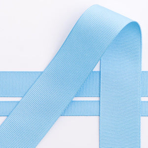 Pale Blue Grosgrain Ribbon - 10mm, 16mm, 25mm, 38mm - Button Blue Crafts