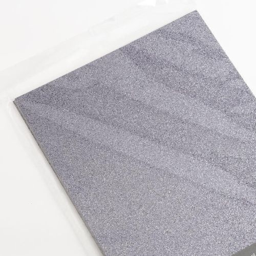 Pewter A4 Low Shed Glitter Cardstock Premium Quality - 250gsm - Button Blue Crafts