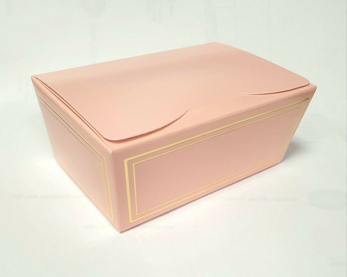 Medium 115x75x50mm Truffle Ballotin Boxes - Rose Pink - Wedding Favour Handmade Sweets Christmas Gift
