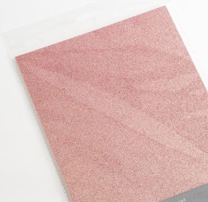 Pink Rose Gold A4 Low Shed Glitter Cardstock Premium Quality - 250gsm - Button Blue Crafts