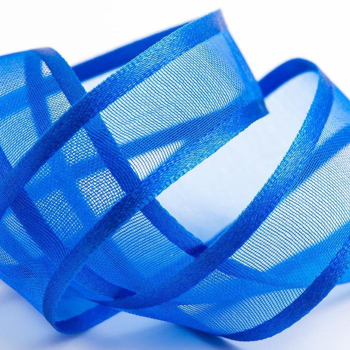 Royal Blue - Satin Edge Organza - Sheer Ribbon - 4 Widths