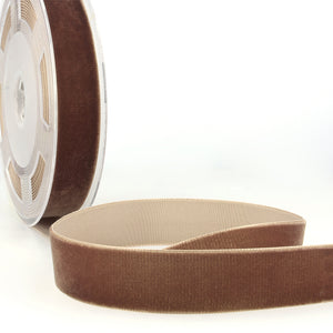 La Stephanoise Chocolate Brown Velvet Ribbon - 5 Widths - Colour 060