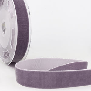 La Stephanoise Mauve Velvet Ribbon - 5 Widths - Colour 087