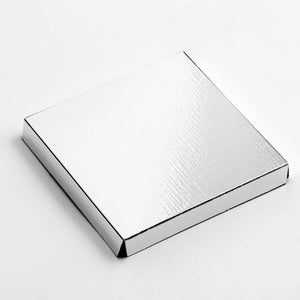 Silver 8cm Square Platform For Transparent Favour Boxes - Wedding Favours, Homemade Gifts and Treat Display