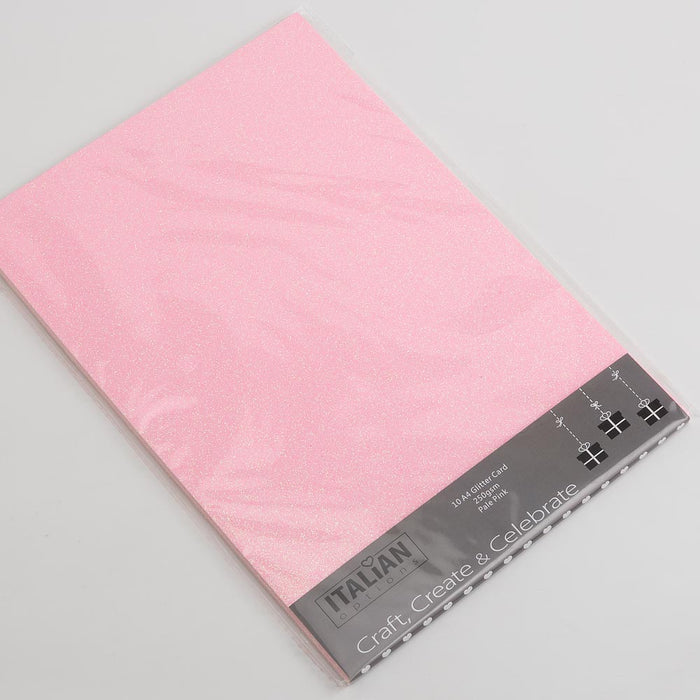 Baby Pink A4 Low Shed Glitter Cardstock Premium Quality - 250gsm