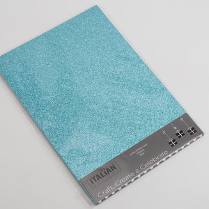 Blue A4 Low Shed Glitter Cardstock Premium Quality - 250gsm - Button Blue Crafts