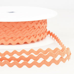Salmon Pink - Stephanoise 8mm Ric Rac Ribbon - Braid Trim - Cut Lengths - Craft Essentials