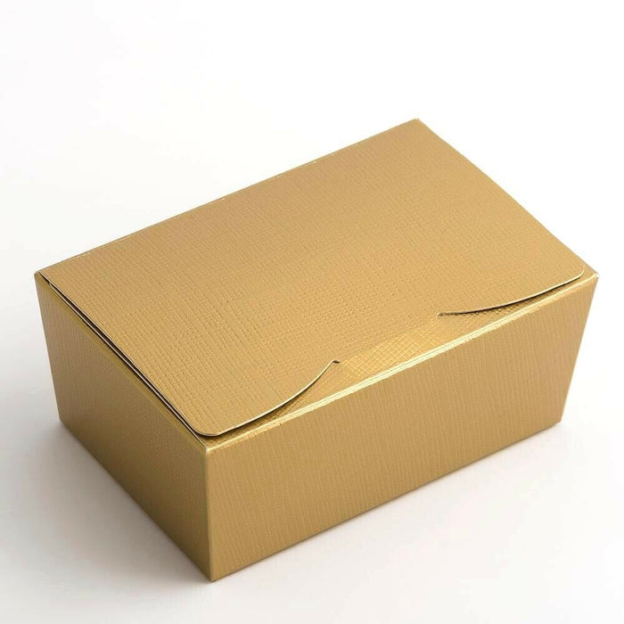 Small 103x67x45mm Truffle Ballotin Boxes - Gold - Wedding Favour Handmade Sweets Christmas Gift