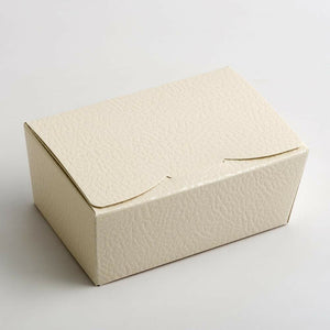 Small 103x67x45mm Truffle Ballotin Boxes - Antique White - Wedding Favour Handmade Sweets Christmas Gift