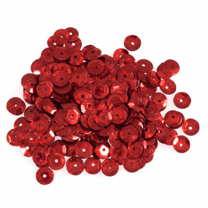Red Sequins - 6mm - 3g - Crafts, Card Making, Costume Making