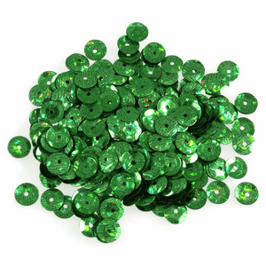Green Sequins - 6mm - 3g - Crafts, Card Making, Costume Making