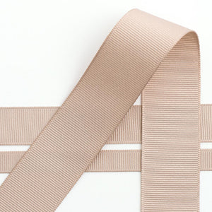 Taupe Grosgrain Ribbon - 10mm, 16mm, 25mm, 38mm - Button Blue Crafts
