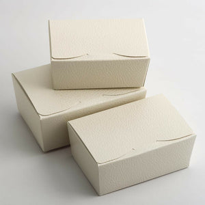 Large 125x80x55mm Truffle Ballotin Boxes - Antique White - Wedding Favour Handmade Sweets Christmas Gift
