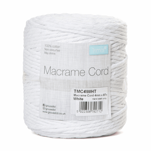 Macrame Cord - White - Full Reel - 100% Natural Cotton UK Made