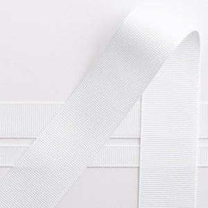 White Grosgrain Ribbon - 10mm, 16mm, 25mm, 38mm - Button Blue Crafts