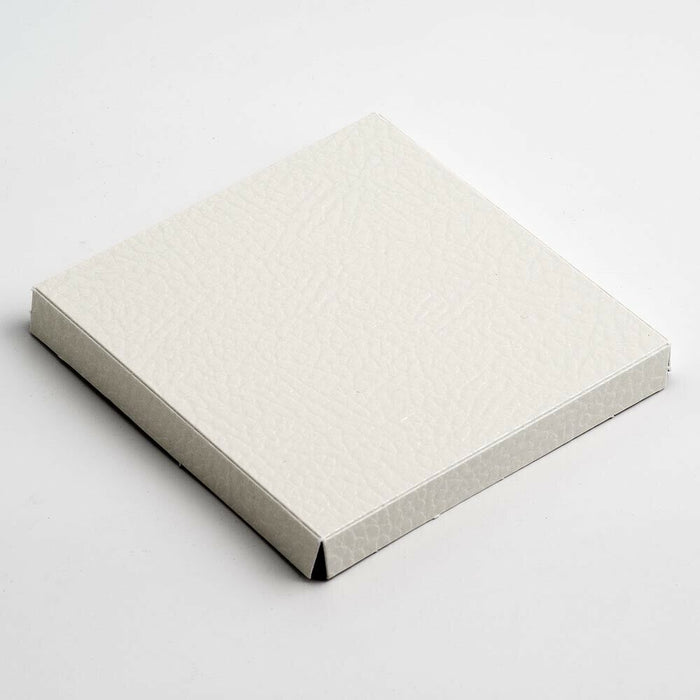 Antique White 12cm Square Platform For Transparent Favour Boxes - Wedding Favours, Homemade Gifts and Treat Display