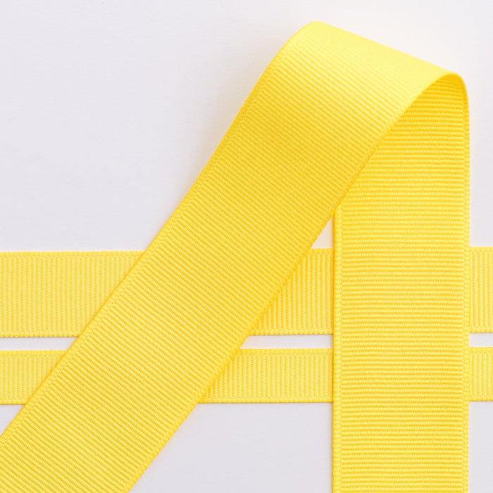 Yellow Grosgrain Ribbon - 10mm, 16mm, 25mm, 38mm