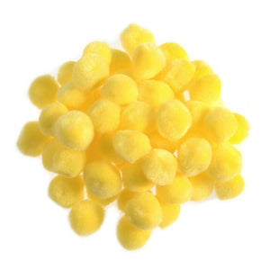 Yellow Pom Poms - Mini 7mm - 50mm - Toy Making Kids Crafts - Trimits