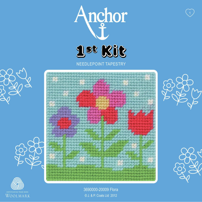 Flora - Flowers Needlepoint Tapestry - Anchor 1st Kit