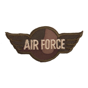 Air Force Wings Motif Iron Sew On Embroidered Applique - CFM2/047X - Button Blue Crafts