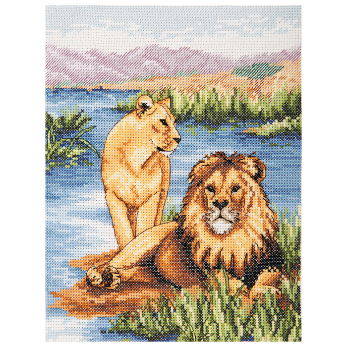 Anchor Counted Cross Stitch Kit - Lions - African Wildlife