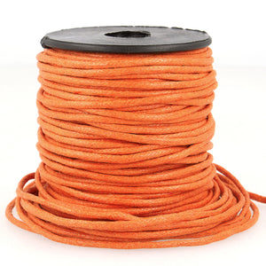 La Stephanoise Imitation Faux Leather 2mm Cord Thong - Orange - Button Blue Crafts