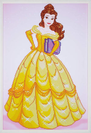 Belle - Beauty & The Beast Vervaco Disney Princess Diamond Rhinestone Painting Kit - Button Blue Crafts