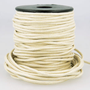 La Stephanoise Imitation Faux Leather 2mm Cord Thong - Ivory - Button Blue Crafts