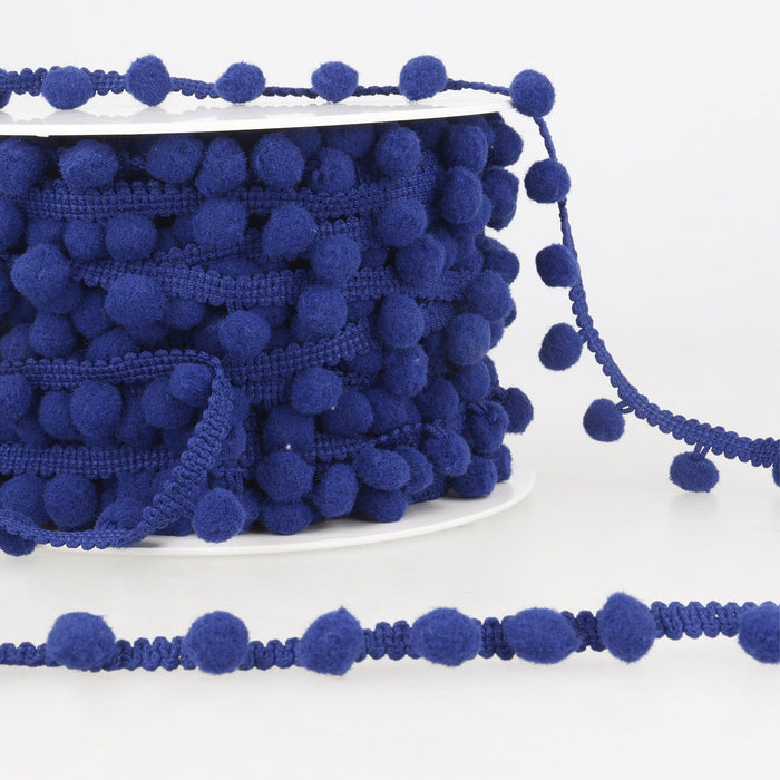 La Stephanoise Navy Blue Pom Pom Trim - 10mm
