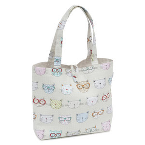 HobbyGift Cool Cats Craft Tote Shoulder Bag HGSHB/450 - Button Blue Crafts