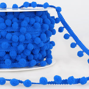 La Stephanoise Royal Blue Pom Pom Trim - 10mm - Button Blue Crafts
