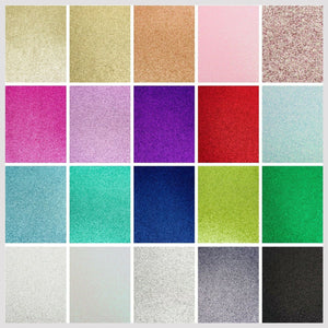 Silver A4 Low Shed Glitter Cardstock Premium Quality - 250gsm - Button Blue Crafts