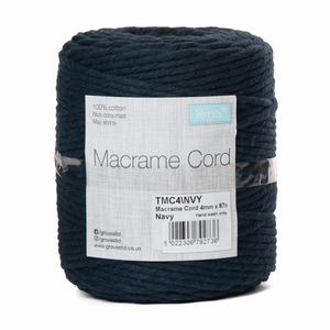Macrame Cord - Navy Blue - Full Reel - 100% Natural Cotton UK Made