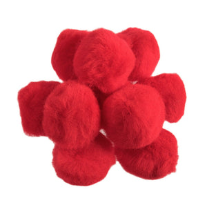 Red Pom Poms - Mini 7mm - 50mm - Toy Making Kids Crafts - Trimits