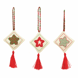 Traditional- Anchor Christmas Decorations Collection - Counted Cross Stitch Kit - 3 Patterns